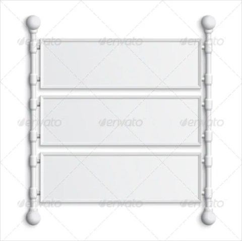 Modern Blank Banner Sample Template