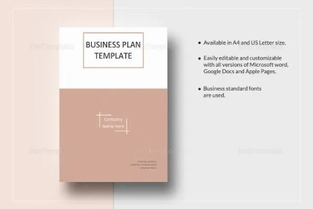 business report title page template business plan title page     one page business plan word