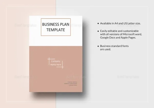 images for business plan template for word