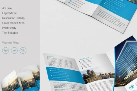Stunning Design Architect A3 Tri Fold Brochure Template   Free     Stunning Design Architect A3 Tri Fold Brochure Template