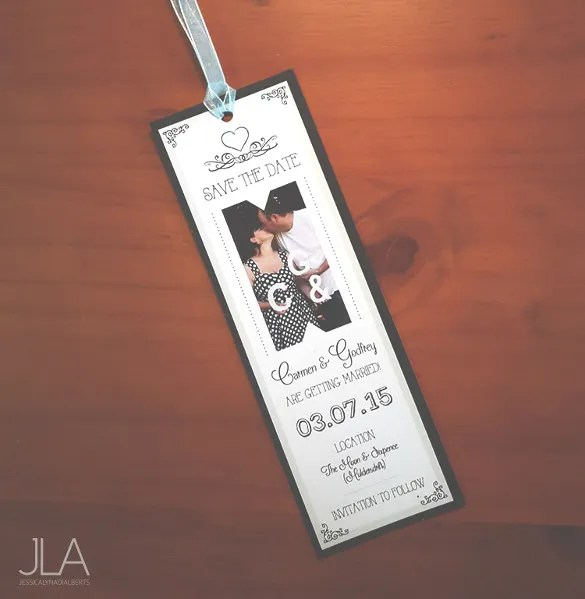 Easy To Edit Wedding Bookmark Template