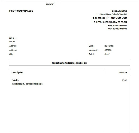 32 Excel Invoice Templates Word Ai Psd Google Docs
