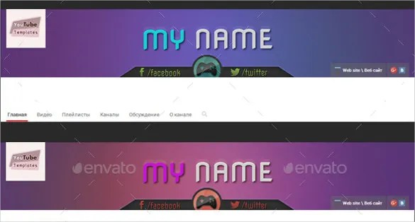 Youtube Banner Art Template 20 Free PSD AI Vector EPS Illustrator Format Download Free