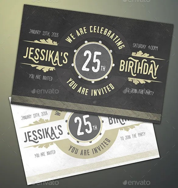 Birthday Theme Invitation Cards