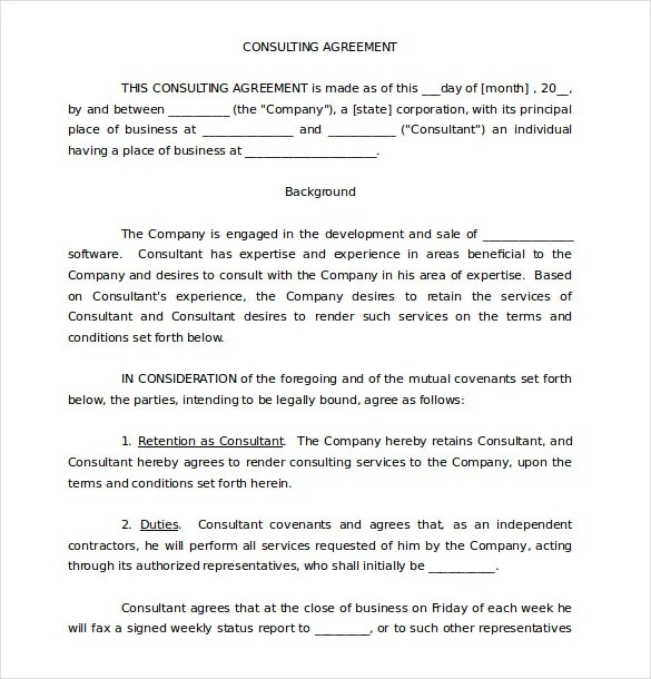 19 Consulting Agreement Templates Docs Pages Free