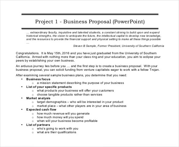 Proposal Format Template project proposal template 38 free word – Proposal Format Template