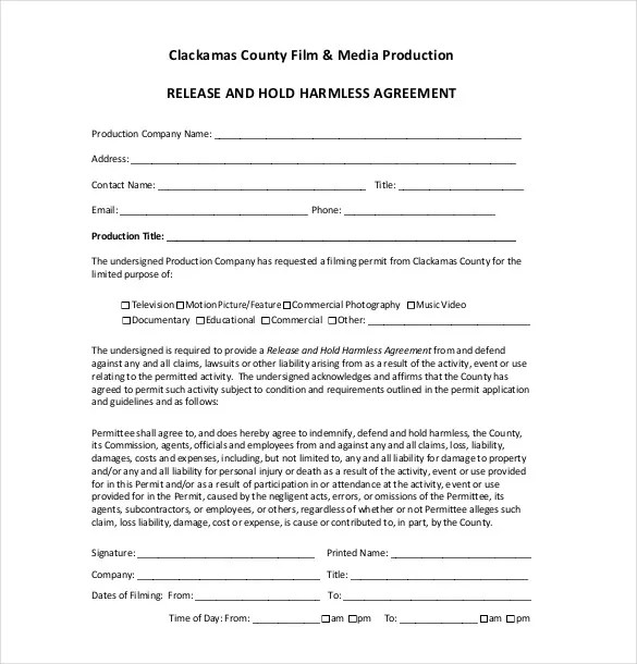 Doc400518 Liability Agreement Sample Release of Liability – Liability Contract Template