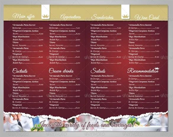 57 Restaurant Menu Templates Design Psd Docs Pages