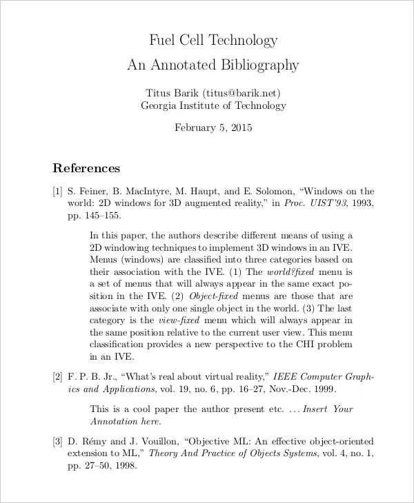 Bibliographyannotated X Fc2 Com: Example Of Mla Annotated Bibliography Website