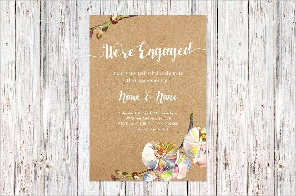 Engagement Invitation Templates Free Party