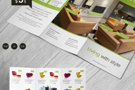 Excellent Furniture A3 Tri Fold Brochure Template   Free   Premium     Excellent Furniture A3 Tri Fold Brochure Template