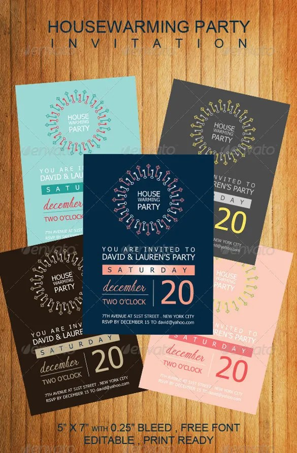 Housewarming Template Invitation 18
