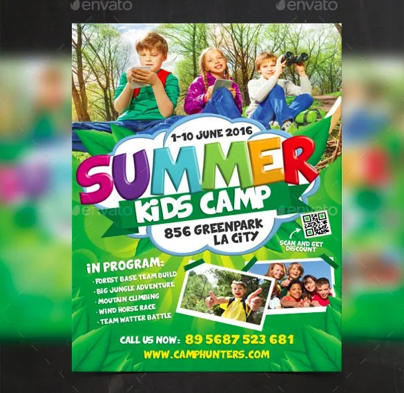 summer camp flyer template free image of summer camp brochure