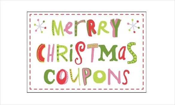 Captivating Champlain College Publishing  Christmas Coupons Template
