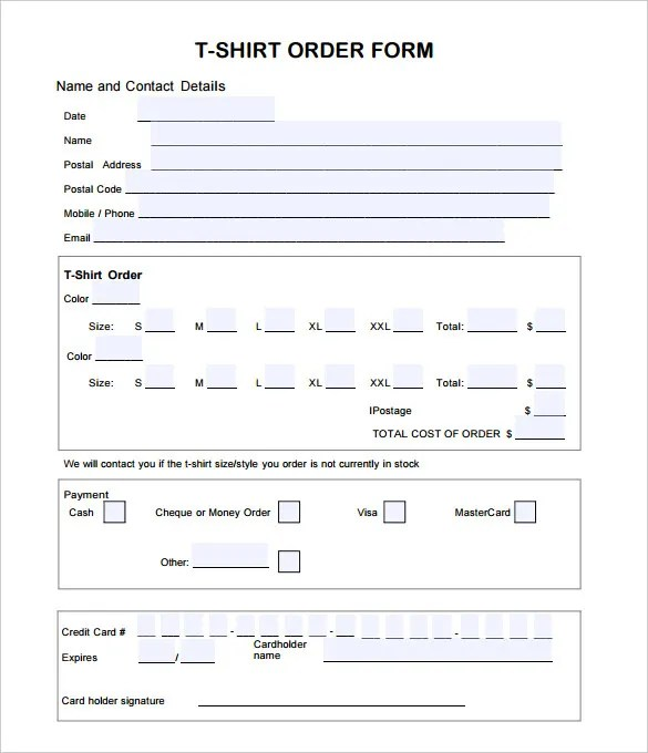Order Sheets Template in the purchase explaining how to use – Basic Order Form Template