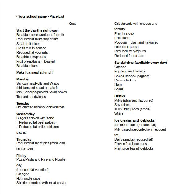 Word Menu Template 20 word menu templates free download free and – Menu Templates Free Download Word