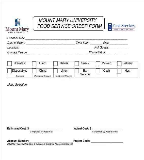 Event Order Form Template 1000 images about cake order forms on – Basic Order Form Template