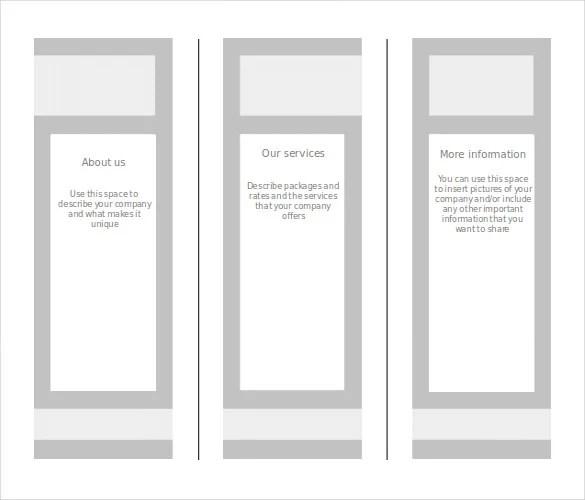 printable travel brochure template for kids