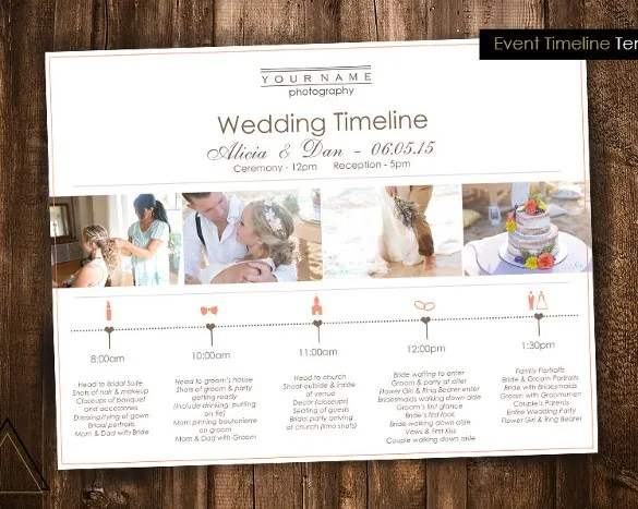 images for wedding timeline template excel
