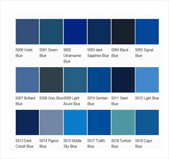 Pms Color Chart Blue Image Gallery - Hcpr