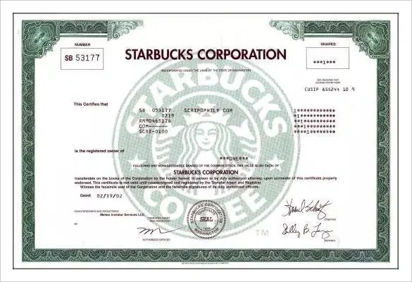 21 stock certificate templates free sample example format 40 free – Blank Share Certificate