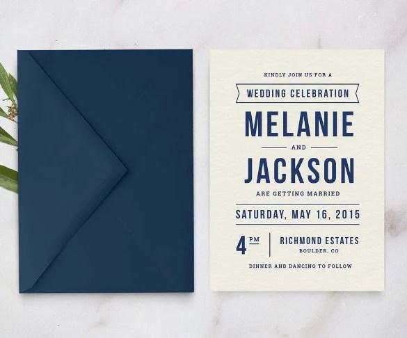 Elegant Vintage Pea Wedding Invitation Template