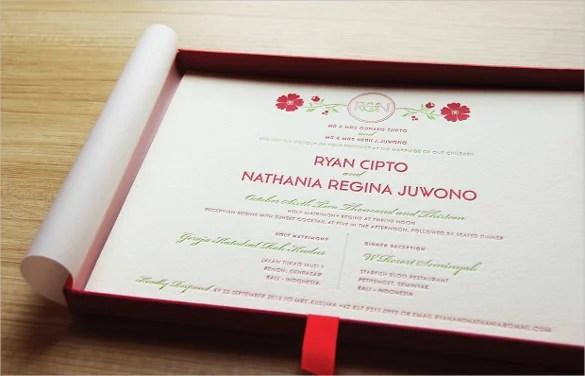 Editable Wedding Menu Invitation Template