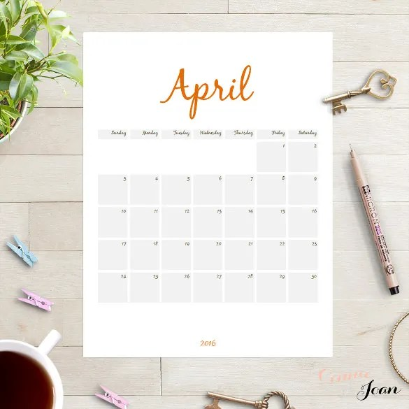 16  Word Calendar Templates Free Download   Free   Premium Templates 2016 Planner Calendar Template Edit in Word