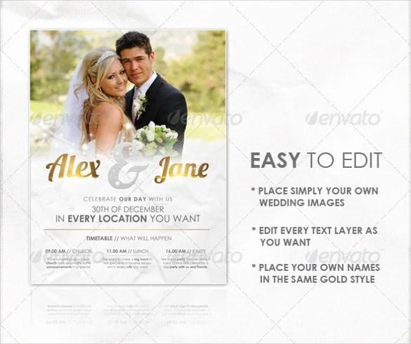 Attractive Wedding Invitation Flyer Design Weddinginvitation