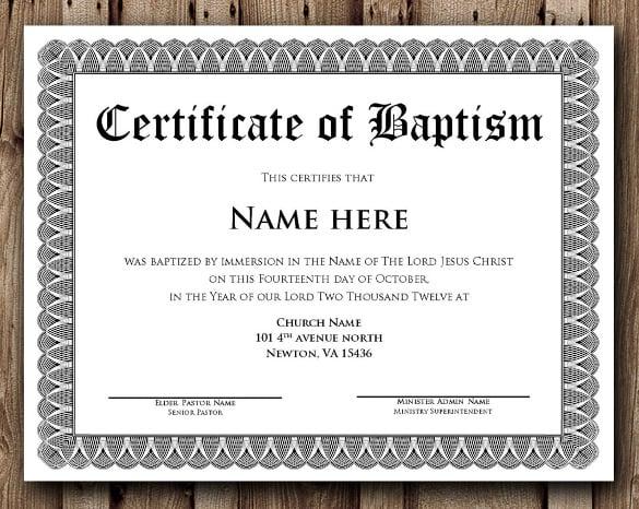 Fill Blank Baptism Invitations
