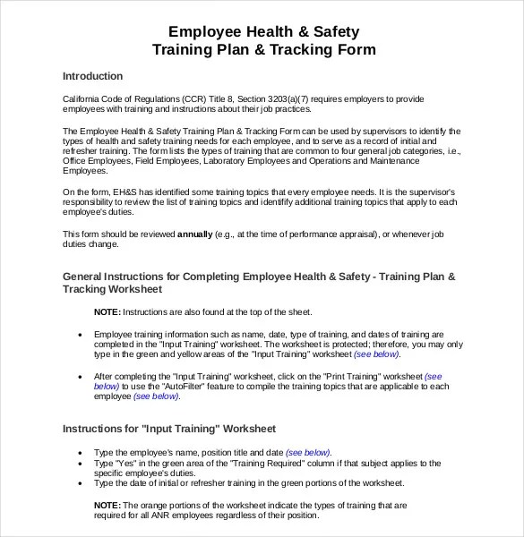 health and safety forms templates   Template