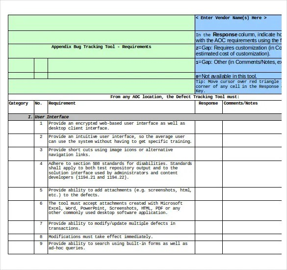 4 bug tracking templates free sample example format download