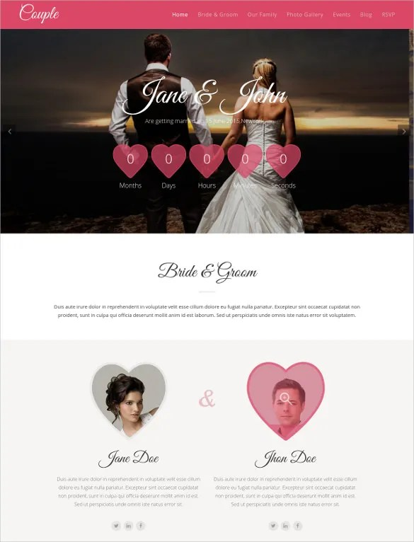 33 Free Wedding Website Themes Templates