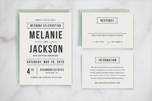 Wedding Invitation Template Ms Word Format