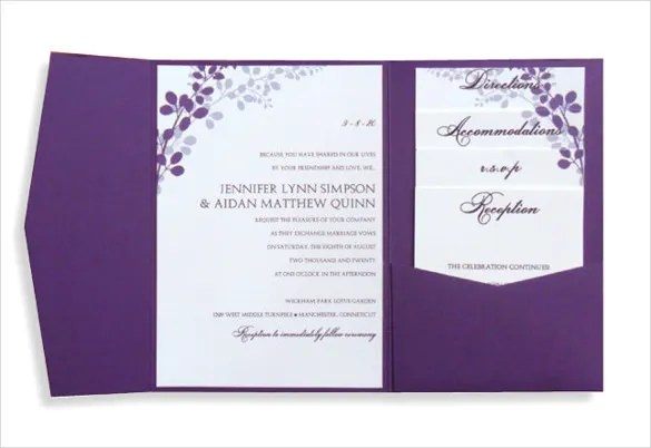 Photo 2 Of 3 Wedding Invitation Layout Options Printable Invitations Templates Word Amazing