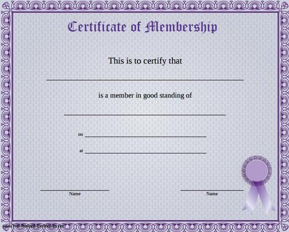 23 Membership Certificate Templates Word Psd In Design