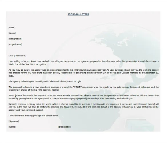 Business Proposition Template 20 free proposal templates – Business Proposition Template