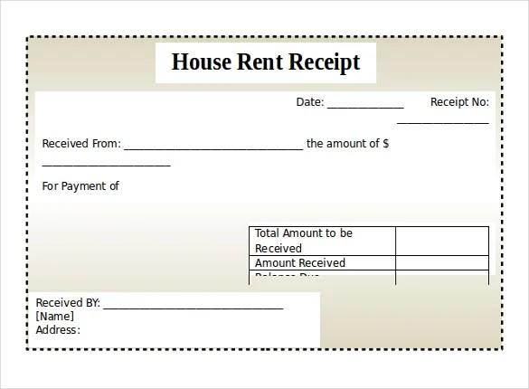 Doc685399 House Rent Receipt Sample rent receipt format in – Format of Rent Receipt