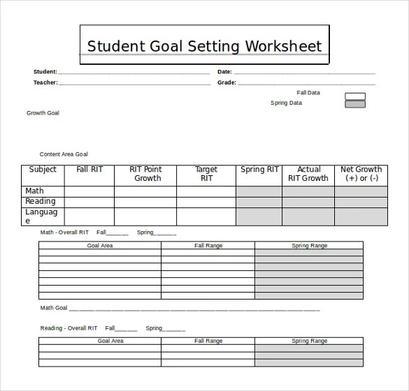 Free Goal Setting Templates. goal setting template code4country ...