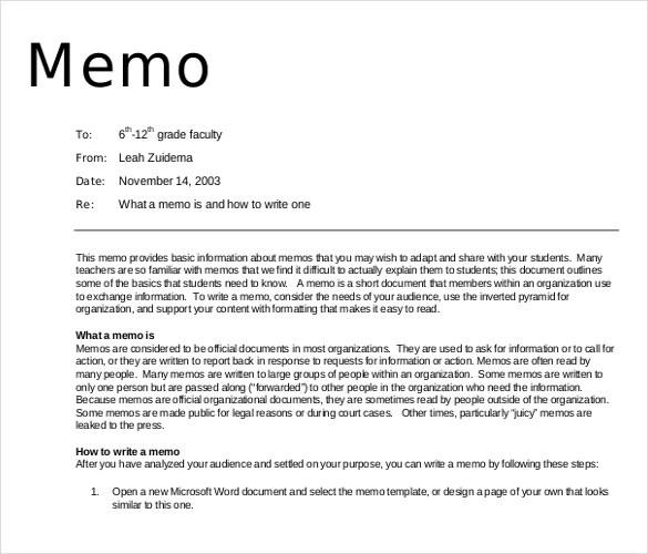 Debit Memo Template 15 free memo templates free sample example – Free Memo Template Download