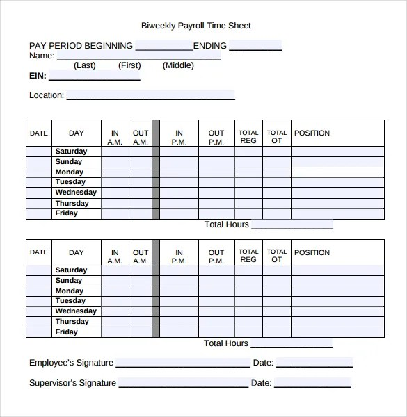 construction daily timesheet template