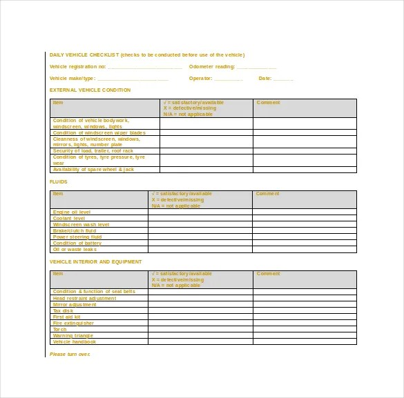 Checklist Templates Create Printable Checklists With Excel. To Do