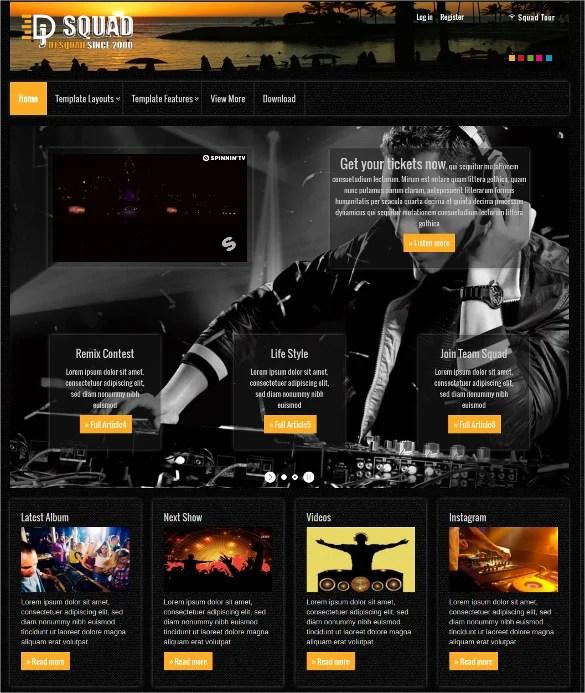 Free Dj Website Templates Dj Web Template By Player Designer On