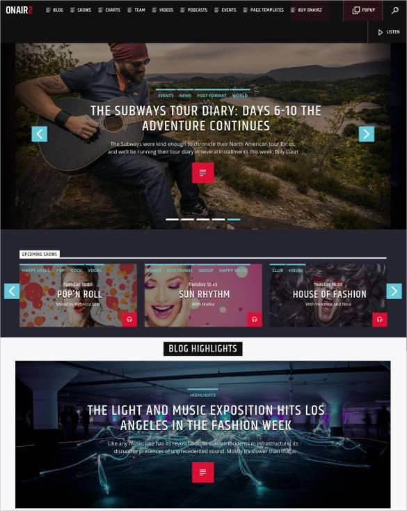 30 Radio Station Wordpress Themes Templates Free