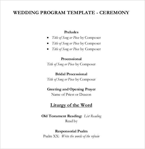 Wedding Ceremony Program Templates. alpha hydrangea folded wedding ...