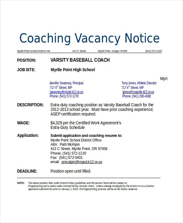 Assistant Football Coach Resume Sample. coach resume samples ...