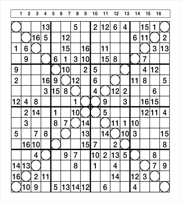 Sudoku Template. sudoku miscellaneous the hindu. blank sudoku ...