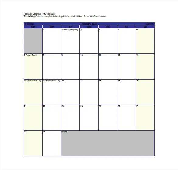 Word Calender Template. free calendars and calendar templates ...