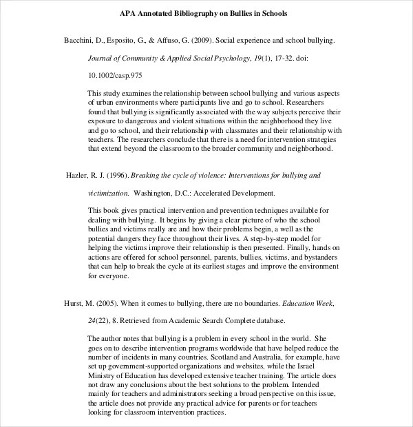 Annotated Bibliography Apa Template National History Day History