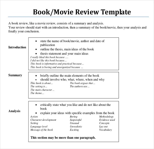 thesis film review The film analysis paper is designed to be a short essay, which allows you to begin thinking about the movie writing helps you to think, since you have to ar.
